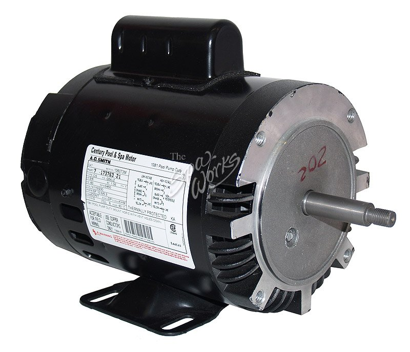 Jacuzzi spa motor 3 4 hp 1 speed 120 240 convertable for Spa pumps and motors