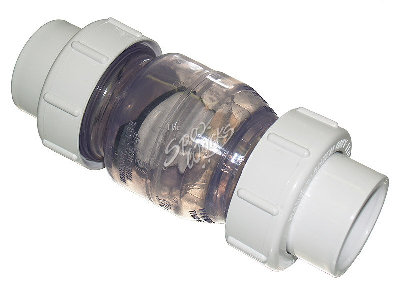 Inch pvc swing check valve with union clear the