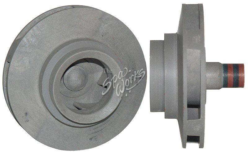 Cal spa 1 5 hp vico reverse dually impeller silver for Cal spa dually pump motor
